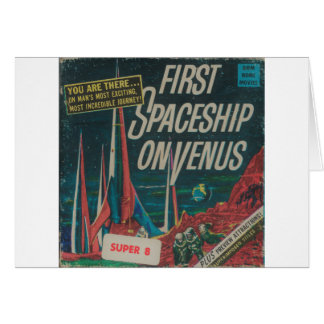 First Spaceship on Venus Vintage Scifi Film Card