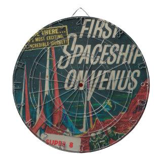 First Spaceship on Venus Vintage Scifi Film Dartboard