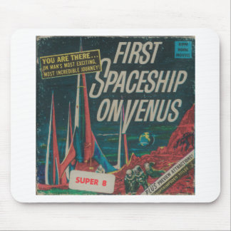 First Spaceship on Venus Vintage Scifi Film Mouse Pad