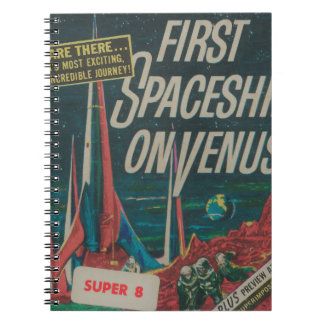 First Spaceship on Venus Vintage Scifi Film Notebook