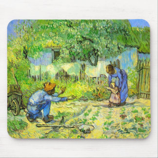 First steps, 1890 Vincent van Gogh. Mouse Pad
