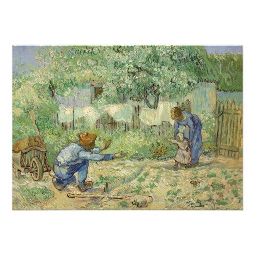 First Steps (after Millet) by Vincent Van Gogh Invitation