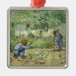 First Steps after Millet by Vincent Van Gogh Metal Ornament