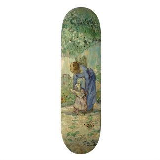 First Steps after Millet by Vincent Van Gogh Skate Board Deck