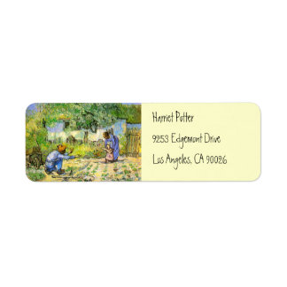 First Steps (after Millet) Van Gogh Fine Art Return Address Label