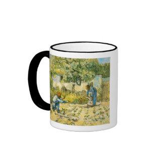 First Steps by Vincent van Gogh Ringer Mug