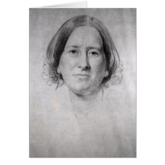 First Study for the Portrait of George Eliot Card