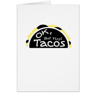 First Taco  Funny Fitness Workout Gym Card