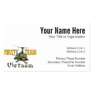 First Team Vietnam Gunship Business Card Template