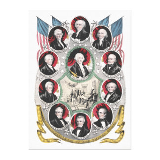 First Ten Presidents of the United States Canvas Print