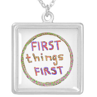 First Things First -  Artistic Text Design Custom Jewelry