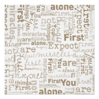 First Things First word collage Poster