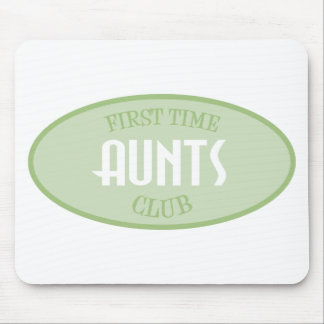 First Time Aunts Club (Green) Mouse Pad
