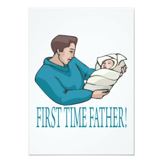 First Time Father 13 Cm X 18 Cm Invitation Card