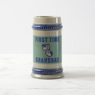 First Time Granddad Tshirts and Gifts Beer Steins