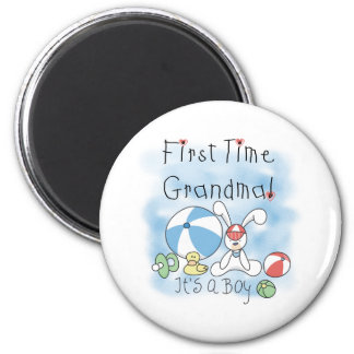 First Time Grandma Baby Boy 6 Cm Round Magnet