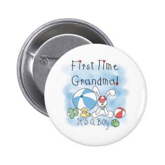 First Time Grandma Baby Boy Pins