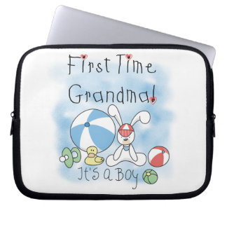 First Time Grandma of Boy Gifts Laptop Sleeve