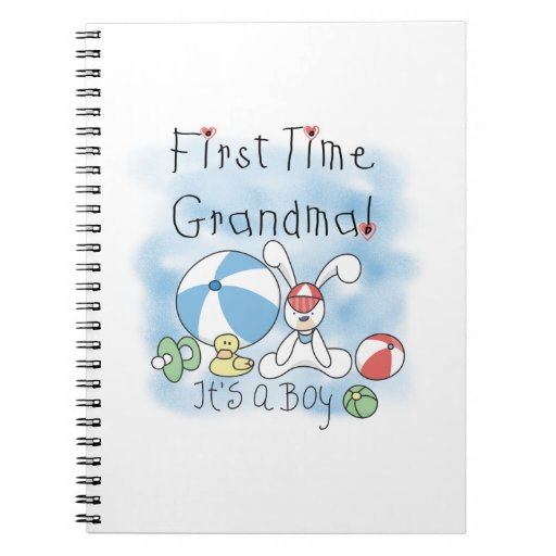 First Time Grandma of Boy Gifts Notebook