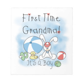 First Time Grandma of Boy Gifts Memo Notepad