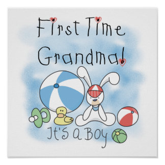 First Time Grandma of Boy Gifts Poster