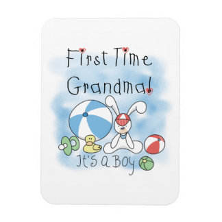 First Time Grandma of Boy Gifts Rectangle Magnets