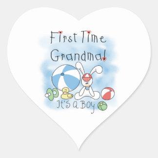 First Time Grandma of Boy Gifts Sticker