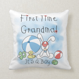 First Time Grandma of Boy Gifts Throw Pillow