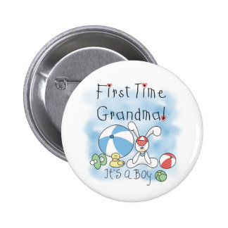First Time Grandma of Boy Tshirts and Gifts 6 Cm Round Badge