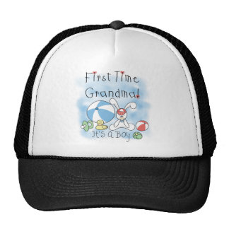 First Time Grandma of Boy Tshirts and Gifts Trucker Hat