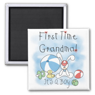 First Time Grandma of Boy Tshirts and Gifts Magnet