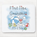 First Time Grandma of Boy Tshirts and Gifts Mousepad