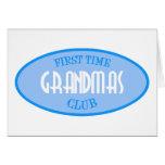 First Time Grandmas Club (Blue) Cards