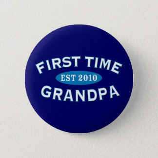 First Time Grandpa 6 Cm Round Badge