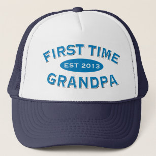 First Time Grandpa Customisable Hat