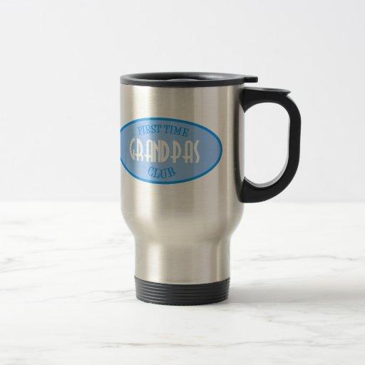 First Time Grandpas Club (Blue) Stainless Steel Travel Mug