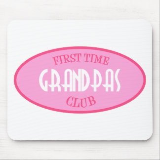 First Time Grandpas Club (Pink) Mouse Pad