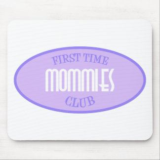 First Time Mommies Club (Purple) Mouse Pad