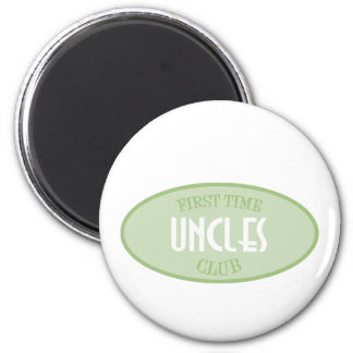 First Time Uncles Club (Green) 6 Cm Round Magnet