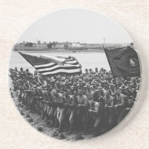 First to Fight United States Marine Corps 1918 Beverage Coasters