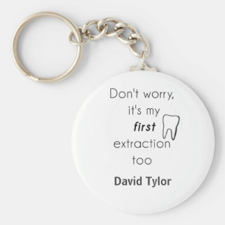 First Tooth Extraction! Basic Round Button Key Ring