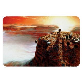 First Trip To Mars Rectangular Photo Magnet