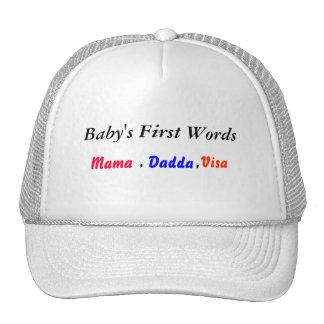 first words ball cap
