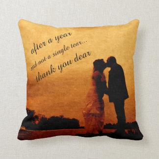 First year wedding anniversary keepsake cushion