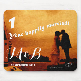 First year wedding anniversary keepsake mouse pad