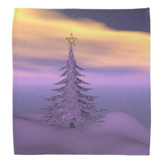 firtree and snow bandana