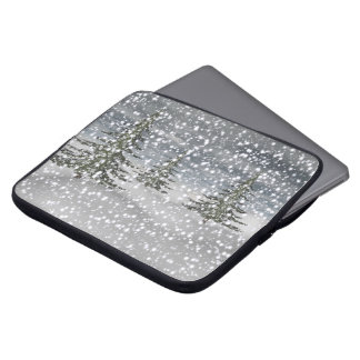 firtree and snow laptop sleeve