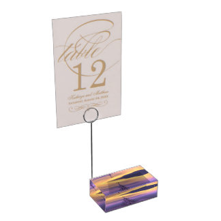 firtree and snow table number holder