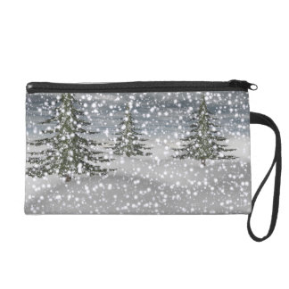 firtree and snow wristlet