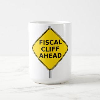 Fiscal Cliff Ahead Basic White Mug